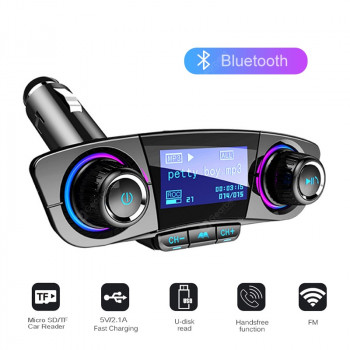 Auto Car Mp3 Player Bluetooth FM Transmitter Wireless Aux Modulator Handsfree Radio Music Player USB Car Charger Adapter Disk LCD Display Cars