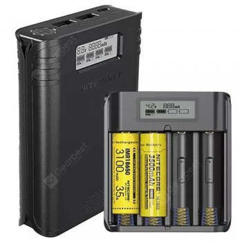 NITECORE F4 Four-Slot Flexible Power Bank Battery Charger for Li-ion / IMR 18650