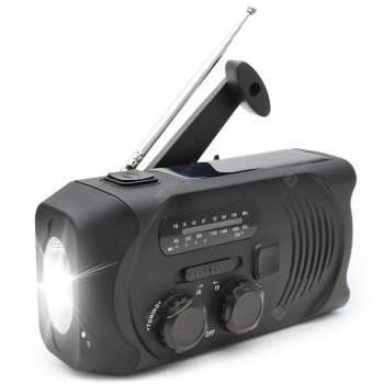 gocomma Solar Hand-cranked Radio Camping Light