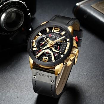 CURREN 8329 Fashion Men Waterproof Watch Six-pin Multi-function Large Dial