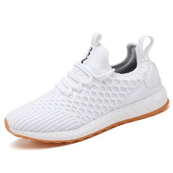 LIGHT CITY Men's Waterproof Antifouling Lightweight Sneaker Antibacterial Deodorant Knit Breathable Shoes