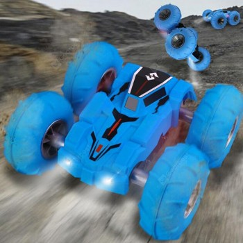 C5 2.4G Four-wheel Drive Double Sided Dump Bounce Remote Control Vehicle RC Stunt Car