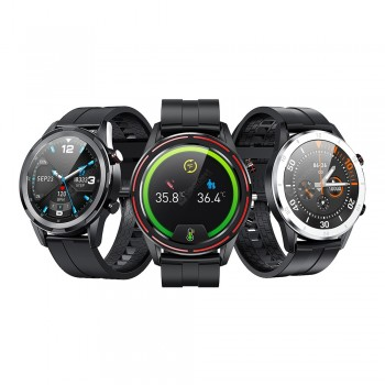 Fobase Magic Smart Watch DIY Watch Bezel Fat Burning Exercise Mode Body Temperature Monitor 24 Sports Modes 30 Days Standby 24H Dynamic Heart Rate Monitor