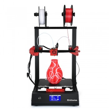 Alfawise U20 Mix 4.3 inch Full Color Touch Screen Control Power-on Self-Test Troubleshooting with WiFi APP Control Function Two-in and One-out FDM 3D Printer