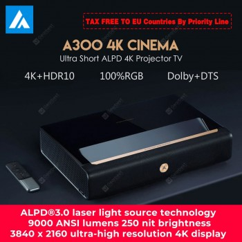 WEMAX A300 4K Laser Projector TV Home Theater Ultra Short Throw Laser 9000 ANSI Lumens ALPD 3.0 Support 3D With Speaker From Xiaomi Ecosystem