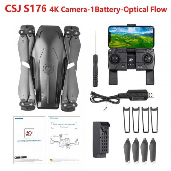 CSJ S176 GPS-PRO RC Quadcoter 5G WIFI Drone with 4K Dual Camera Drone GPS One Key Return Gesture Photo Optical Flow Positioning