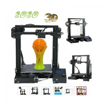 CTC 2019 A-13 Updated 3D Printer Aluminum DIY kit with Resume Print 220x220x250mm Ender
