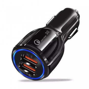 Quick Charge 3.0 Dual USB Port Portable Car Charger Fast Charging Adapter for iPhone Xiaomi HUAWEI