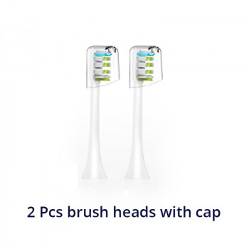 Electric Toothbrush Heads for SOOCAS X3 Foodgrade Bristle Replacement Tooth Brush Head Nozzles with Anti-dust Cap
