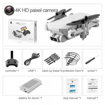 2020 New Mini Drone 4K 1080P HD Camera WiFi Fpv Air Pressure Altitude Hold Black And Gray Foldable Quadcopter RC Drone Toy