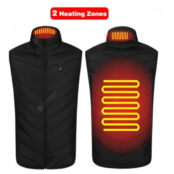 USB Powered Heated Vest Men Women Smart Electric Heating Jackets Winter Outdoor Warm Cycling Fishing Clothing P8101B
