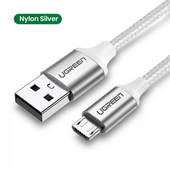 Ugreen Micro USB Cable 3A Nylon Fast Charge USB Data Cable for Samsung LG Tablet Android Mobile Phone USB Charging Cord