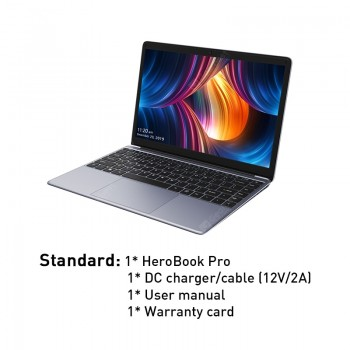 2020 CHUWI HeroBook Pro Intel N4000 Dual Core Windows 10 Laptop 14.1 Inch FHD IPS Screen 8GB 256GB Computer Bluetooth 4.0